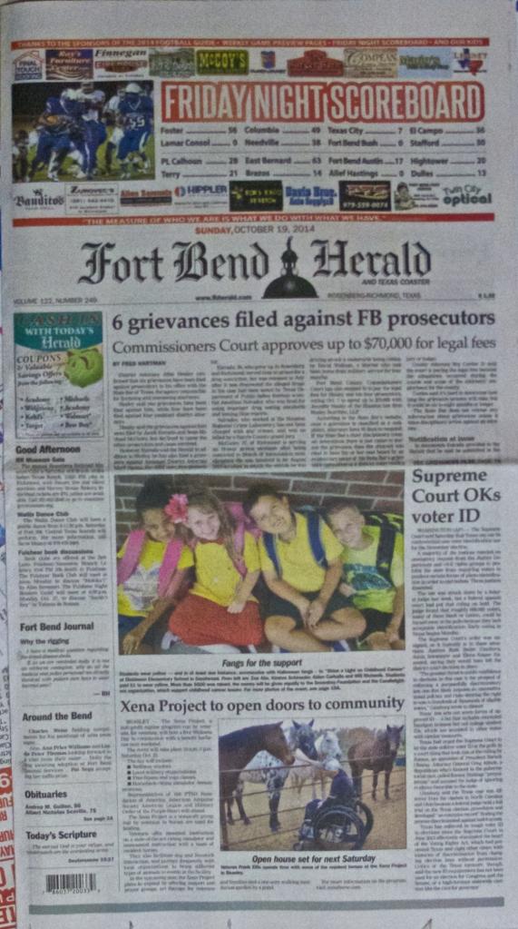 Fort Bend Herald 19OCT20142