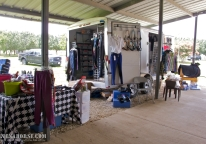 The Eventing Shop, a mobile English tack and general riding shop, threw open its doors for Wellness Day, June 29th. Wellness Day is a recurring event held in west Houston by All Xena's Horses. These events are dedicated to bringing healthcare practitioners and educational resources for people and animals to the local area in an easily accessible, family-friendly environment. Learn more and see the schedule for upcoming events at xenahorse.com.