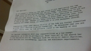 TXP IRS letter