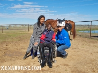 Air Force veteran Derrick Perkins smiles for the cameras with wife, Karen, and KHOU Ch. 11 reporter Len Cannon, during a visit by the news team to The Xena Project in late November. The Xena Project is a veteran-operated 501(c )3 that facilitates healing for veterans and their families through equine and animal therapy; learn more at xenahorse.com