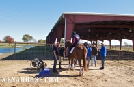 Air Force veteran Derrick Perkins mounts for a riding demonstration for KHOU Ch. 11 during a visit to The Xena Project in late November. The Xena Project is a veteran-operated 501(c )3 that facilitates healing for veterans and their families through equine and animal therapy; learn more at xenahorse.com